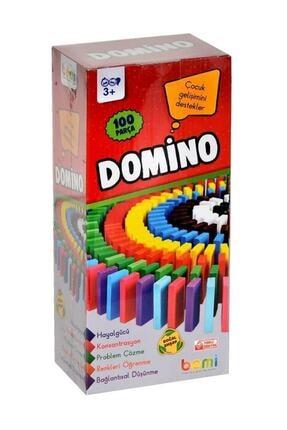 BEMİ Eğitici Oyun Domino 100 Parça Ahşap 0