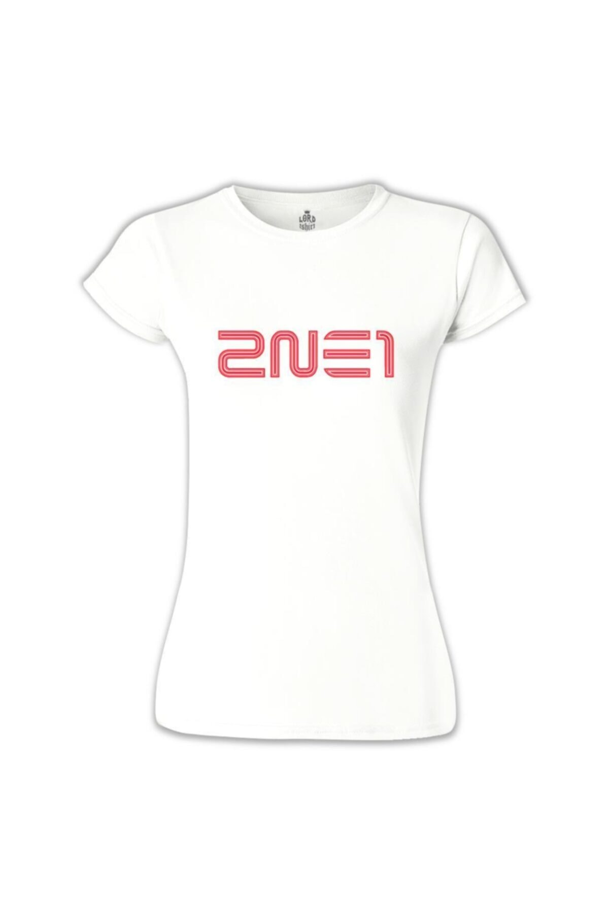 Lord T-Shirt Kadın Beyaz 2ne1 Logo shirt