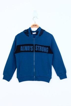 Picture of Erkek Çocuk Mavi  Always Strong Baskılı Hırka