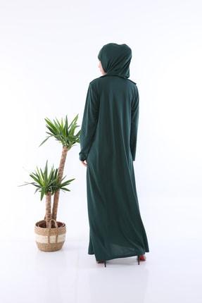 medipek Zümrüt Yeşili Fermuarlı Tek Parça Namaz Elbisesi 2