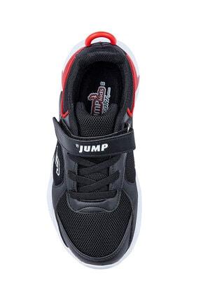 Jump Unisex Çocuk Siyah Günlük Cırtlı Spor Ayakkabı 2