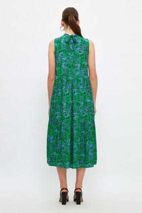 TRENDYOLMİLLA Çok Renkli Desenli Elbise TWOSS20EL0573 4