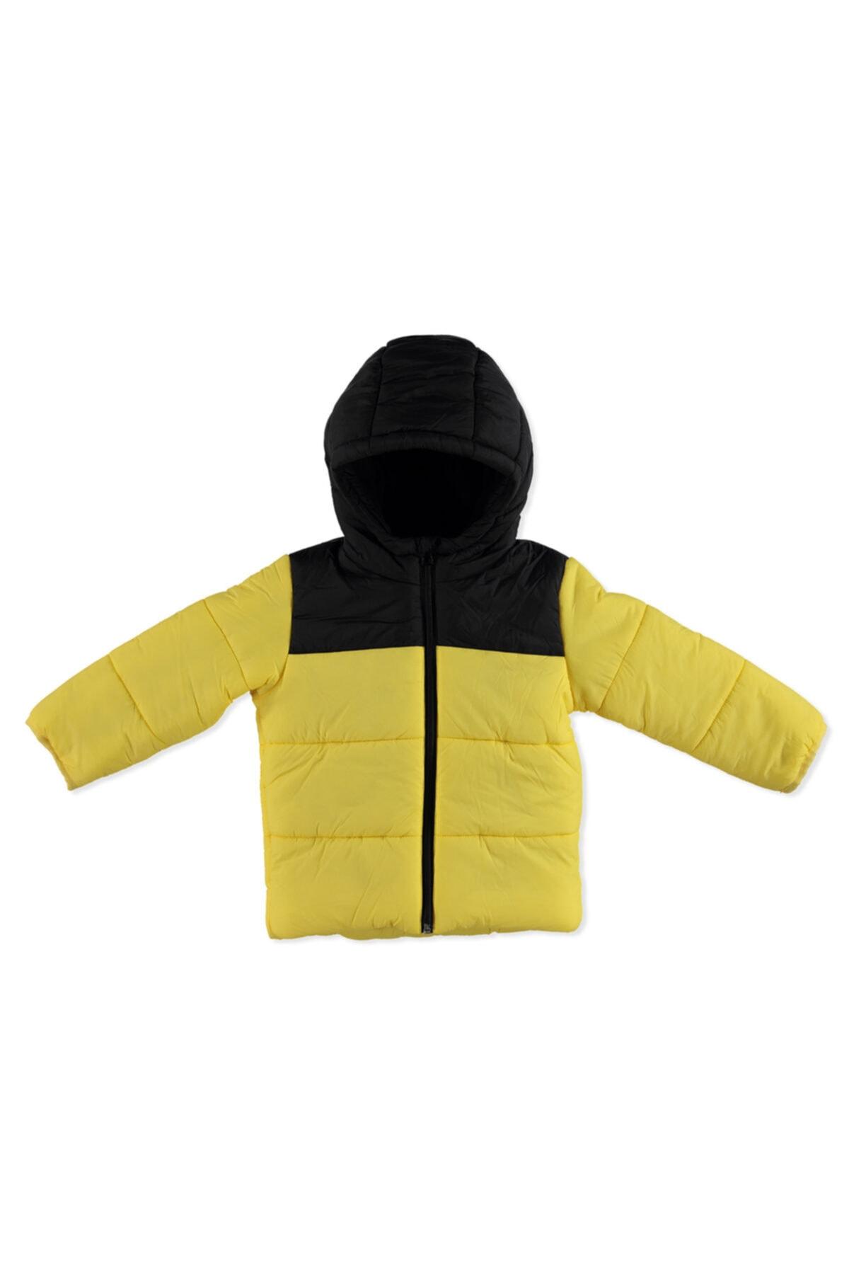 Kış Erkek Bebek Basic Iki Renkli Kapüşonlu Mont