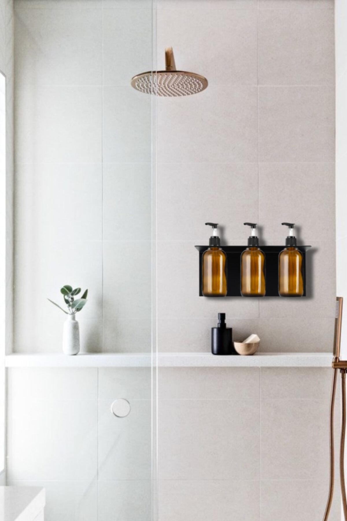 3'lü Set Sıvı Sabunluk, Banyo Şampuanlık , Duş Jelilik, Sıvı Yağ Şişesi