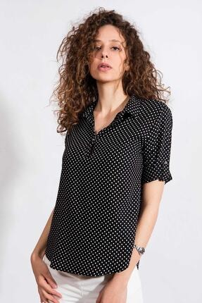 Pattaya Kadın Puantiyeli Uzun Kollu Gömlek Y20s110-3810 1