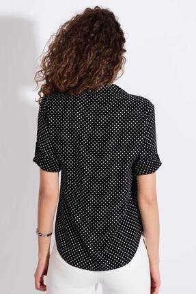 Pattaya Kadın Puantiyeli Uzun Kollu Gömlek Y20s110-3810 2