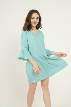 Kadın Mint Yeşili Elbise 9009