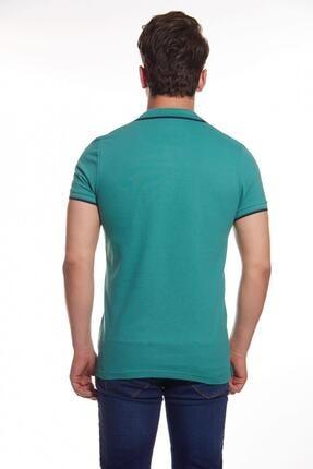 Cazador Erkek Yeşil Polo Yaka Çizgili T-shirt 1