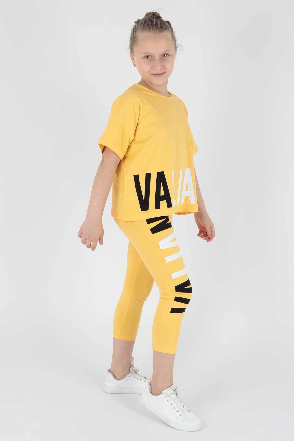 Kız Çocuk Vaillant Baskılı Taytlı Takım