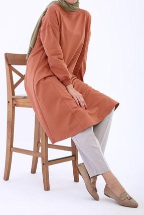 Ekrumoda Kadın Soft Tarçın Basic Kloş Tunik 1