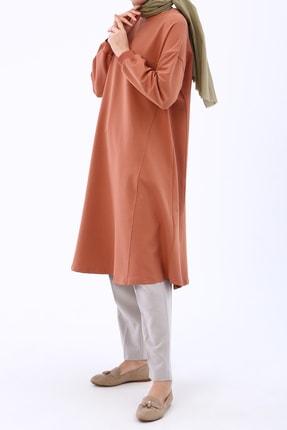 Ekrumoda Kadın Soft Tarçın Basic Kloş Tunik 3