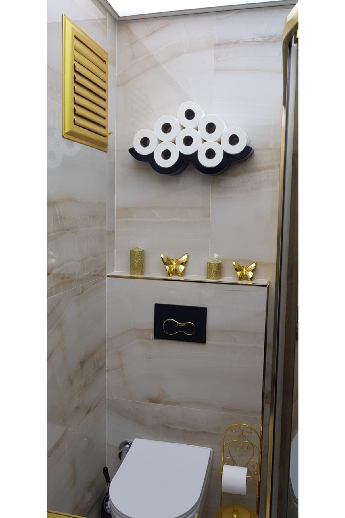 Flying Rool Siyah Çoklu Tuvalet Kağıdı Tutucu Standı 54151
