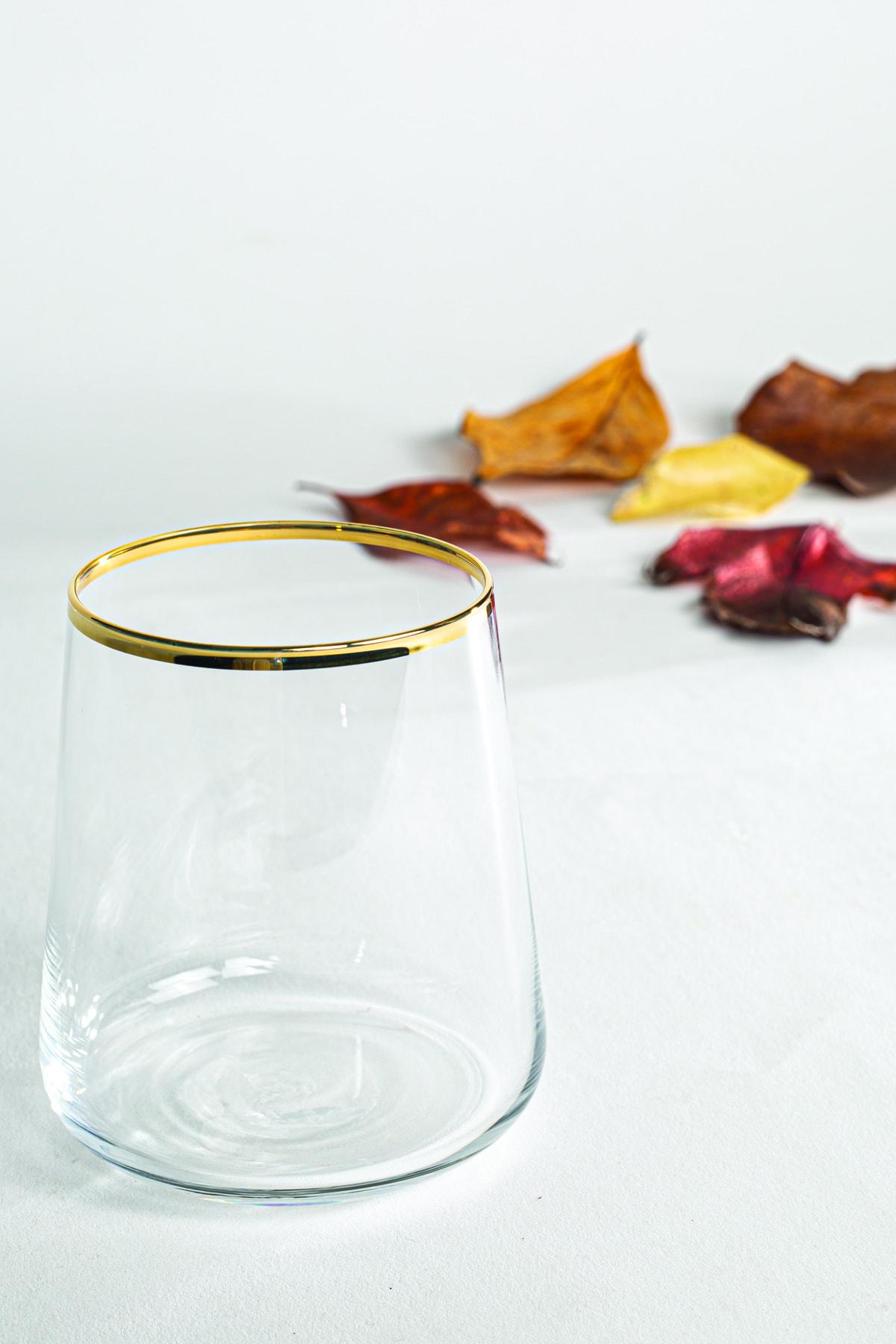 Rakle Avantgarde Gold 3'lü Su Bardağı Seti 380 Cc