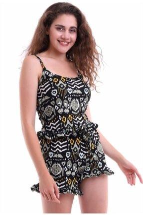 Kadın Ip Askılı Fırfırlı Desenli Pijama Takım Ştkm7001yeşil ŞTKM3753YESİL