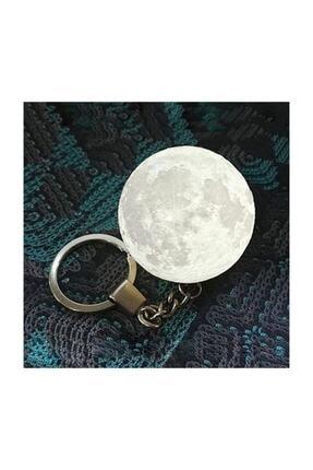3d Moon Lamba Işıklı Ay Anahtarlık bi1414