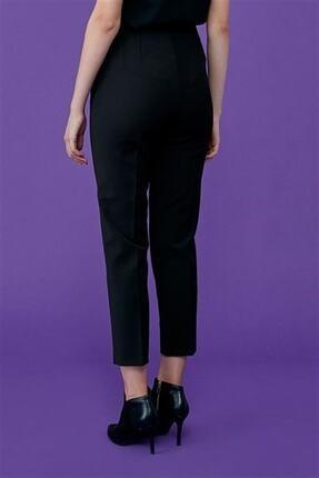 Journey Kadın Siyah Pervaz Kemer Üstü Apolet Ve Toka Detaylı, Dar Paça Pantolon 4