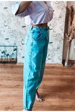 Kadın Mavi Slouchy Jean Pantolon MJEA103