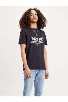 Levi's Erkek Siyah Baskılı T-shirt 22495-0067 0