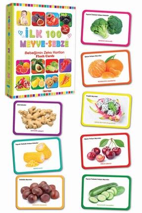 Diytoy Eğitim Seti 100 Sözcük + Ilk 100 Hayvan + Ilk 100 Sebze Meyve + Bebeğimin Ilk Zeka Kartları 4