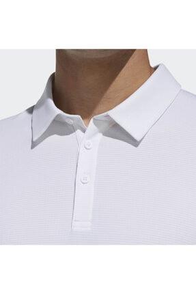 adidas CLMCH M POLO SL Beyaz Erkek Kısa Kol T-Shirt 101117604 4