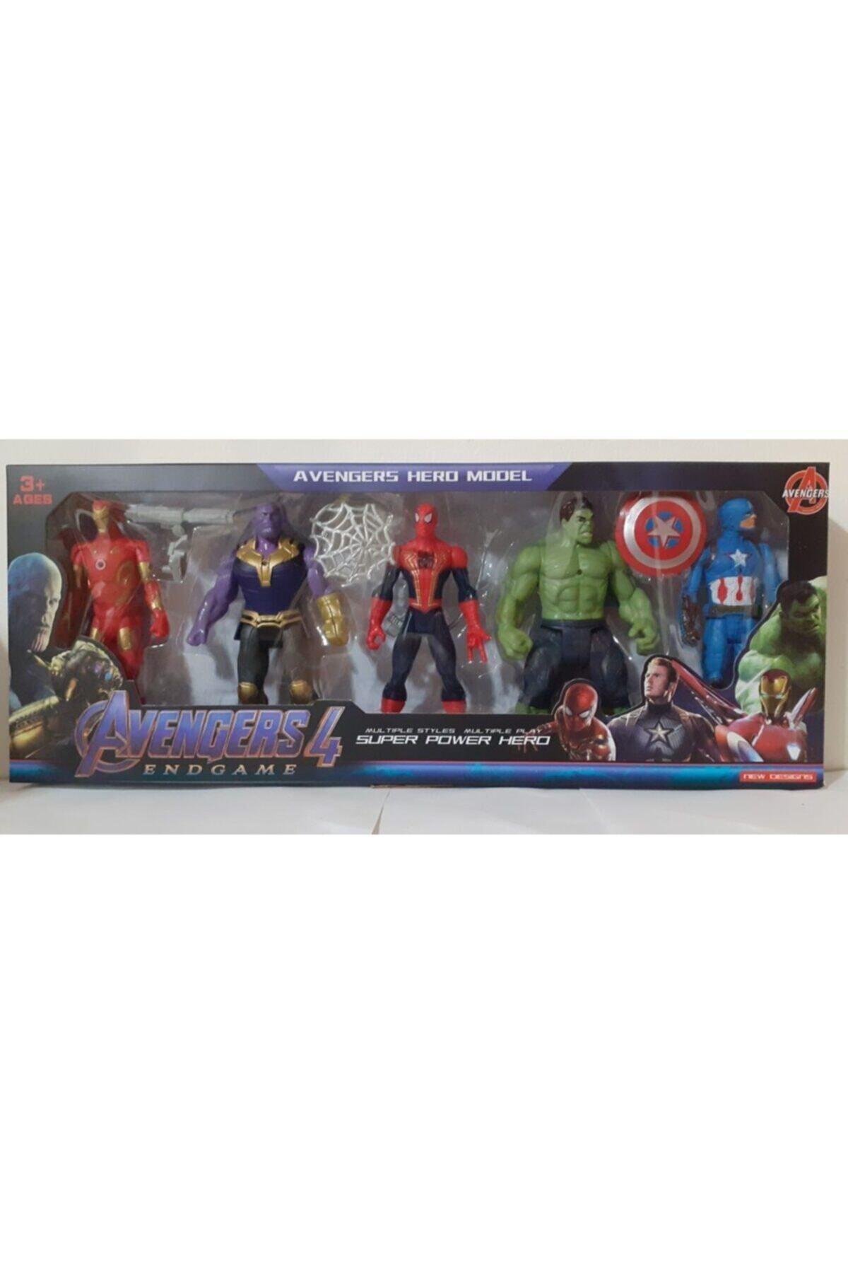 Yenilmezler Hulk Iron Man 5 Li Set 15 Cm Işıklı
