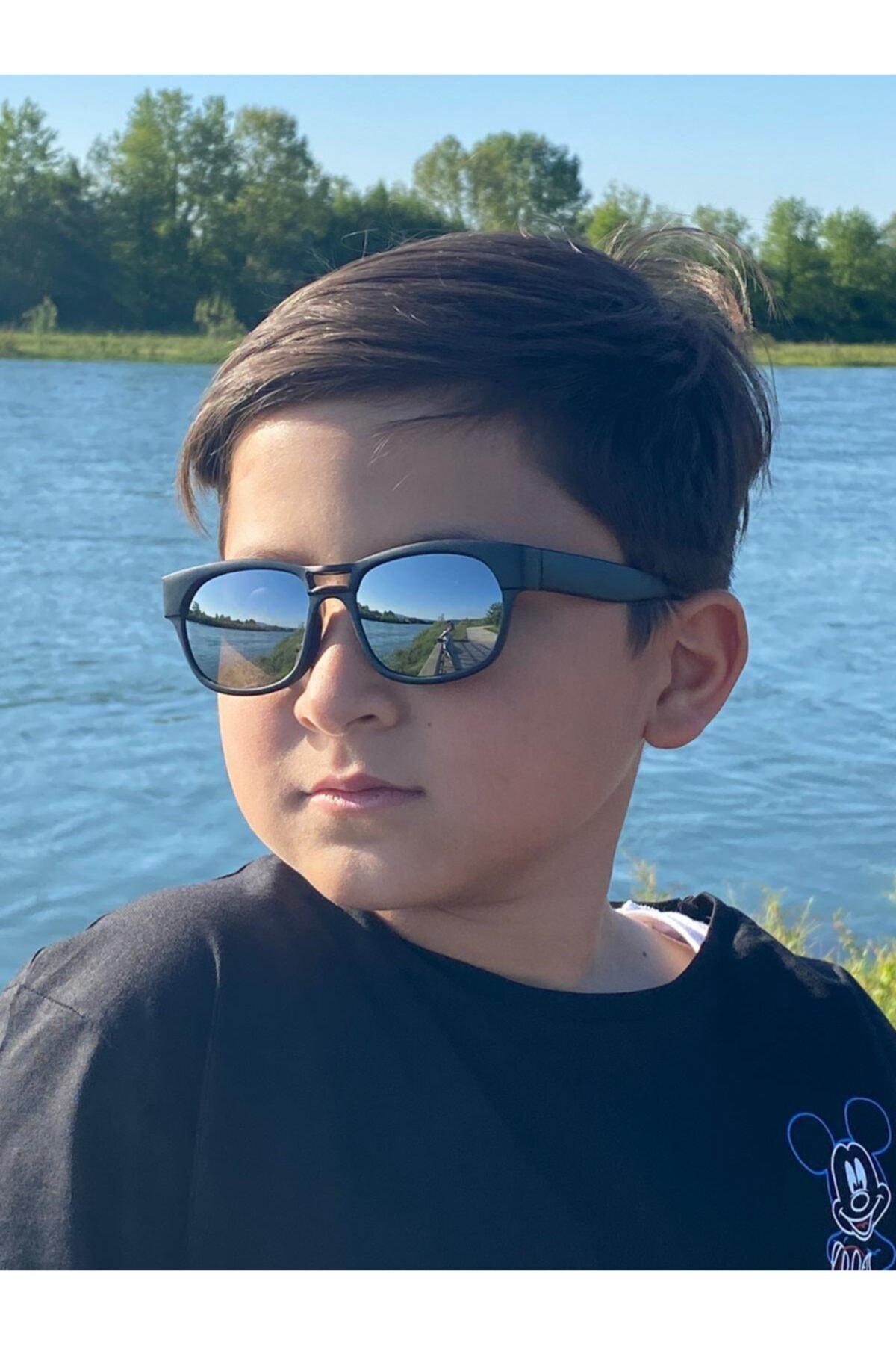 Elittrendshop Erkek Çocuk Aynalı Güneş Gözlüğü 4 - 8 Yaş Kids Sunglases Uv400