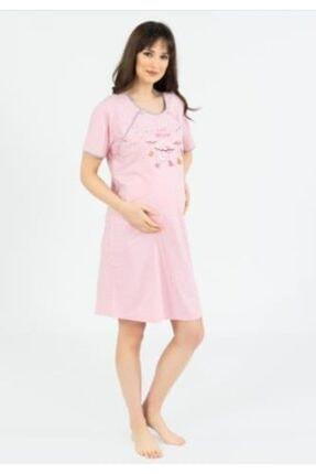 Hamile Lohusa Pembe Elbise Gecelik Sabahlık Takımı TYC00104942949
