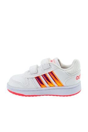 adidas HOOPS 2.0 CMF I Beyaz Kız Çocuk Sneaker Ayakkabı 100663751 0