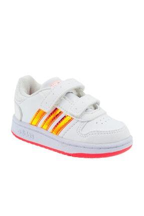 adidas HOOPS 2.0 CMF I Beyaz Kız Çocuk Sneaker Ayakkabı 100663751 1