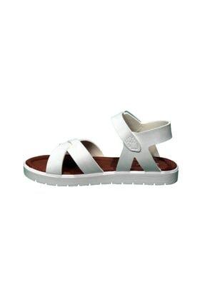 Polaris 91.508159.P Beyaz Kız Çocuk Sandalet 100380036 1