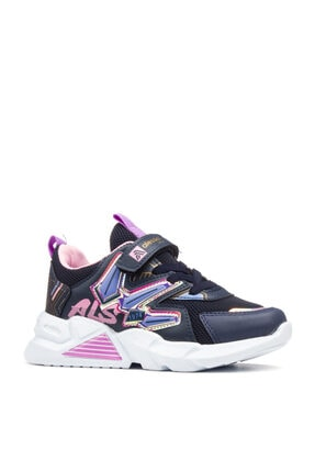 Alessio Kız Çocuk Lacivert Pembe Yazlık Spor Ayakkabı 1