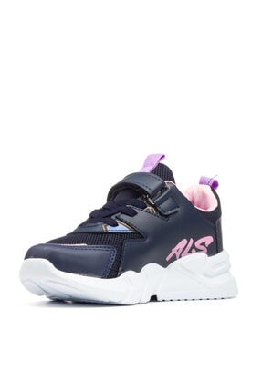 Alessio Kız Çocuk Lacivert Pembe Yazlık Spor Ayakkabı 2