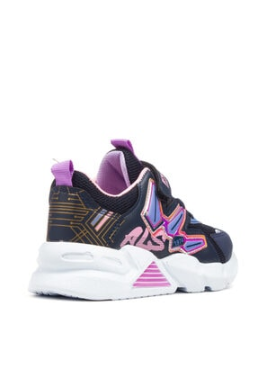 Alessio Kız Çocuk Lacivert Pembe Yazlık Spor Ayakkabı 4