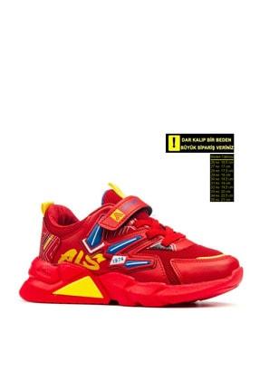 Alessio Unisex Kırmızı Çocuk Okul Ve Spor Ayakkabı 0