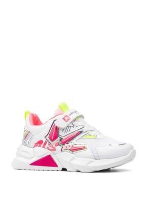 Alessio Kız Çocuk Beyaz Fuşya Yazlık Spor Ayakkabı 1