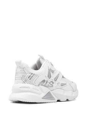 Alessio Unisex Beyaz Çocuk Spor Ayakkabı Yazlık Sneaker 4
