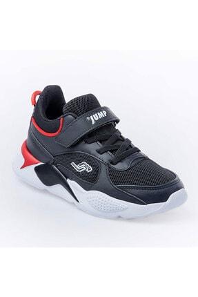 Jump Unisex Çocuk Siyah Günlük Cırtlı Spor Ayakkabı 1