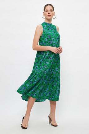 TRENDYOLMİLLA Çok Renkli Desenli Elbise TWOSS20EL0573 0