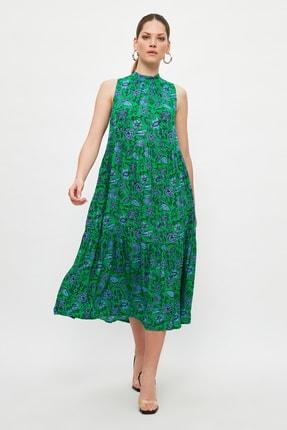 TRENDYOLMİLLA Çok Renkli Desenli Elbise TWOSS20EL0573 1
