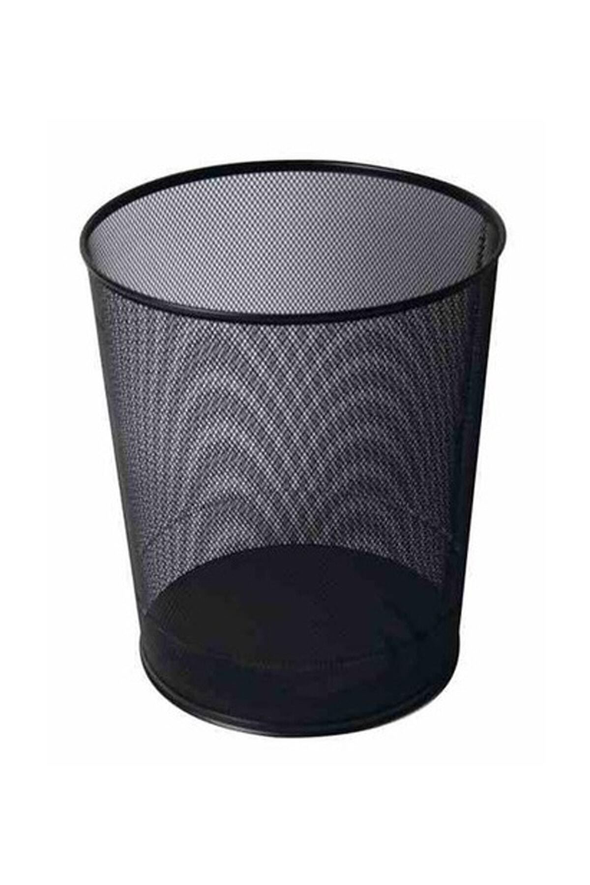 Kraf Metal File Çöp Kutusu Siyah Renkli 540g Fx