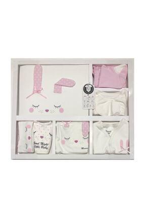 Miniworld Kız Bebek Uyuyan Tavşan Somon 10'lu Hastane Çıkışı %100 Organik 0