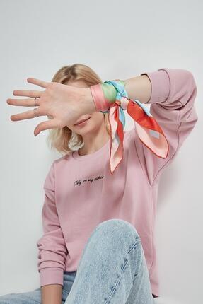Y-London Kadın Turuncu Çok Renkli Fular 12396 1