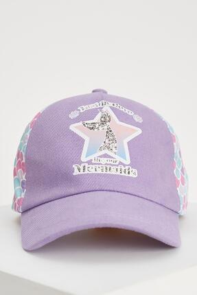Kız Çocuk Deniz Kızı Baskılı Baseball Şapka U1433A621SM