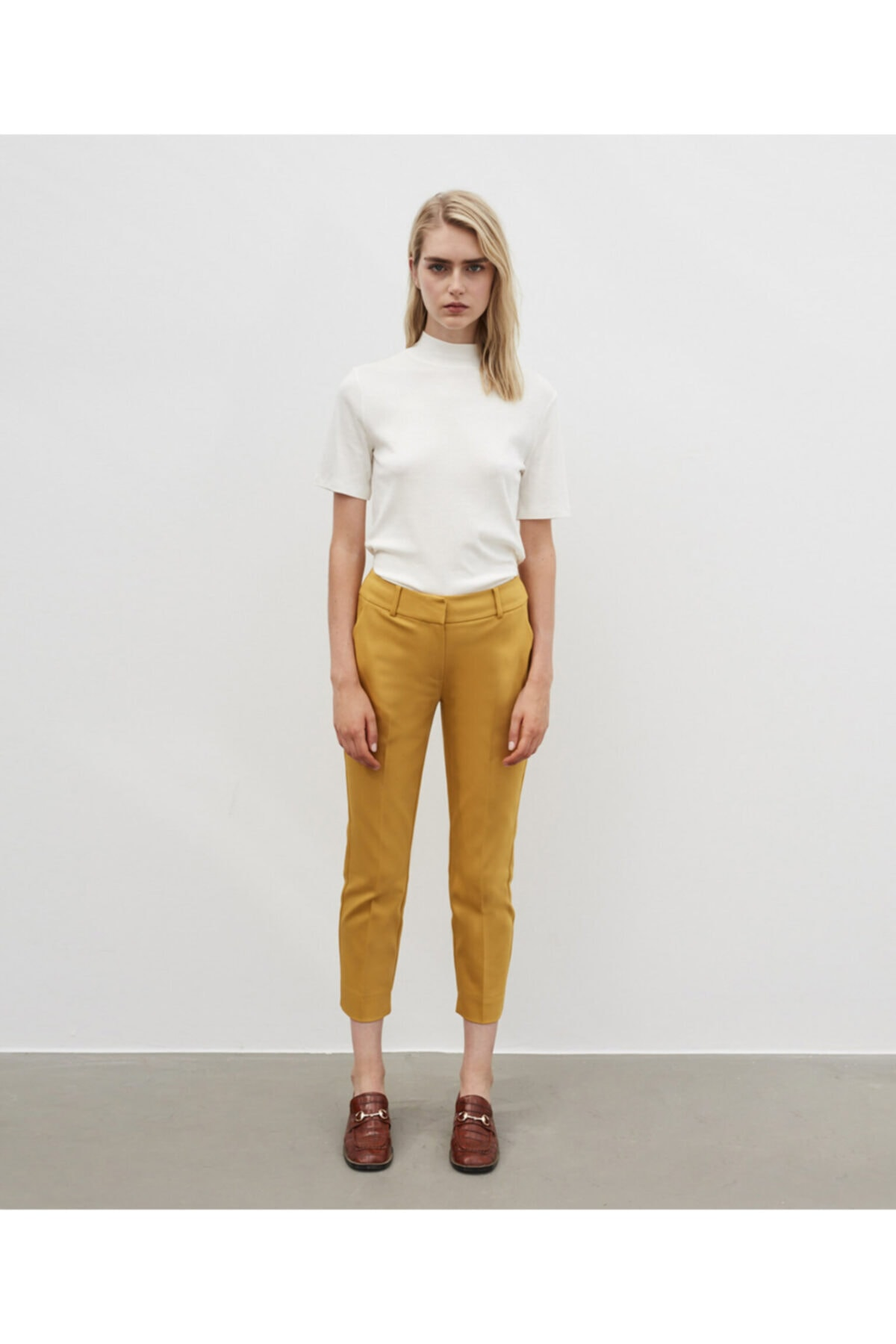 İpekyol Kadın Sarı Klasik Kesim Pantolon