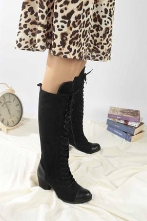 Siyah Topuklu Çizme 806461