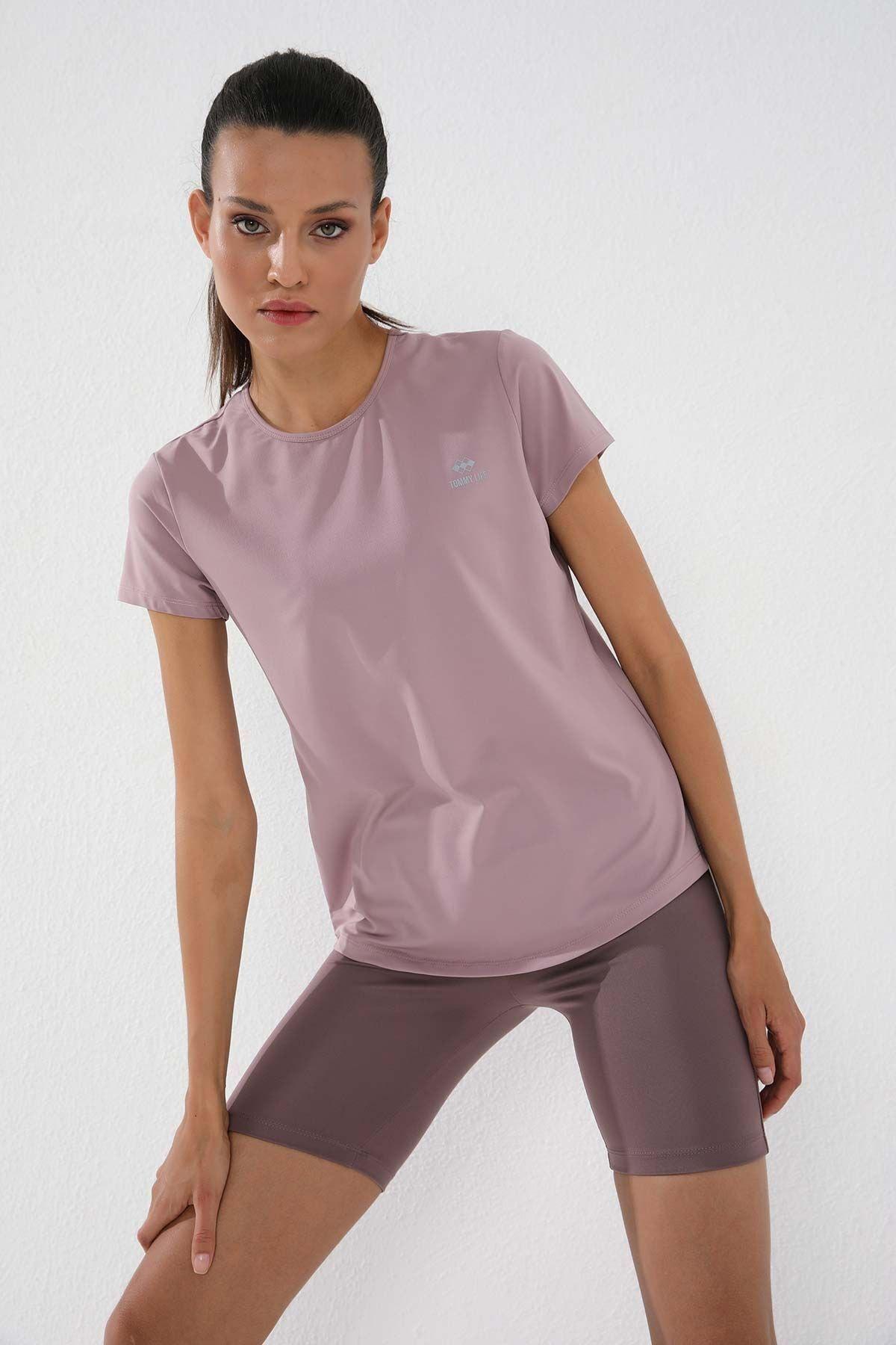 Gül Kurusu Kadın Basic Kısa Kol Standart Kalıp O Yaka T-shirt - 97144