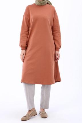 Ekrumoda Kadın Soft Tarçın Basic Kloş Tunik 2