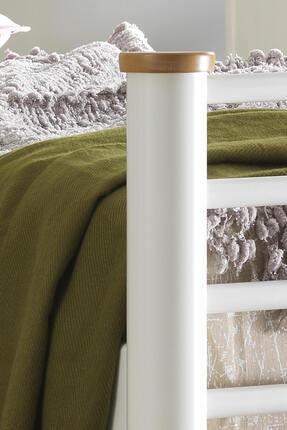 Unimet Kappis Çift Kişilik Metal Karyola-Beyaz 4