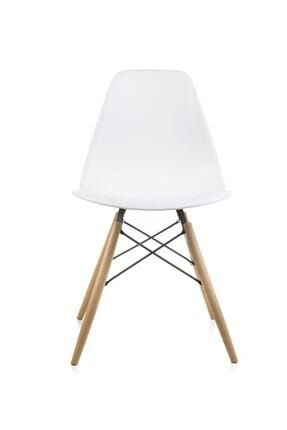 Dorcia Home Beyaz Eames Sandalye - 4 Adet - Cafe Balkon Mutfak Sandalyesi 1