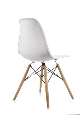 Dorcia Home Beyaz Eames Sandalye - 4 Adet - Cafe Balkon Mutfak Sandalyesi 2